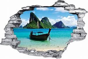 Image Trompe L Oeil : stickers trompe l 39 oeil 3d bateau 3 des prix 50 moins ~ Melissatoandfro.com Idées de Décoration