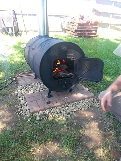building  simple barrel stove outdoor revival