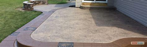 sted concrete patio custom concrete patio wny