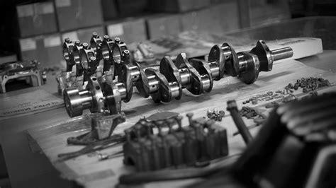 Parts Engine Crankshaft Piston Rod Hd Wallpaper