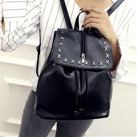 jual tas 2120korean style backpack tas ransel wanita bahan kulit sintetis di lapak vhina store