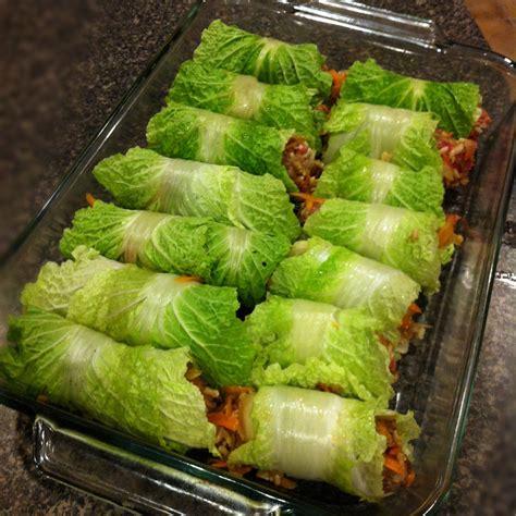 asian stuffed napa cabbage rolls keeprecipes