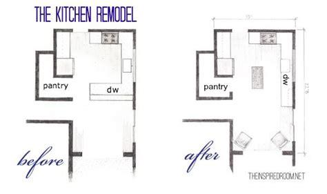 kitchen floor plans   birds eye sketch