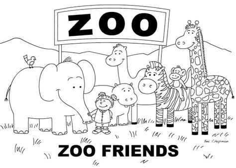 zoo animals coloring pages kids coloring pages zoo