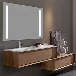Meuble Vasque 100 Cm : meuble salle de bain iroko 100 cm 1 tiroir vasque ~ Edinachiropracticcenter.com Idées de Décoration