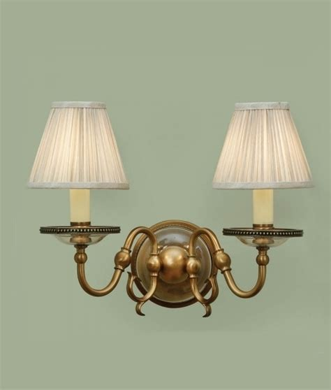 flemish double arm wall light with shades or without