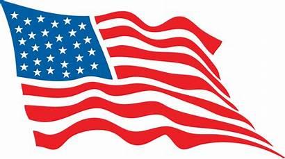 Flag Waving American Clipart Drawing Vector Usa