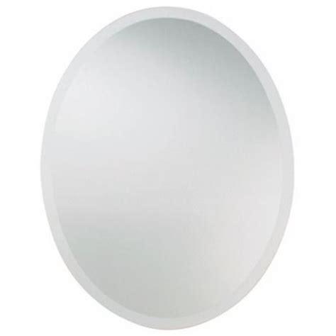 """Uttermost 36 """" High Frameless Oval Wall Mirror #49258"""