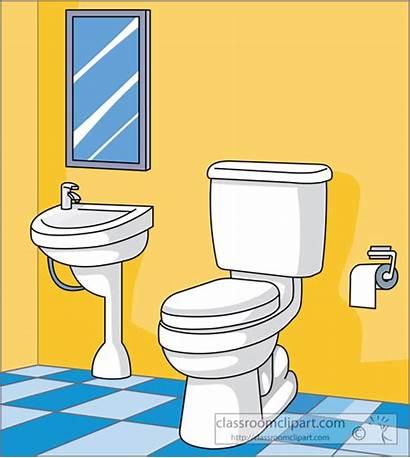 Bathroom Clipart Toilet Sink Comfort Clip Cartoon