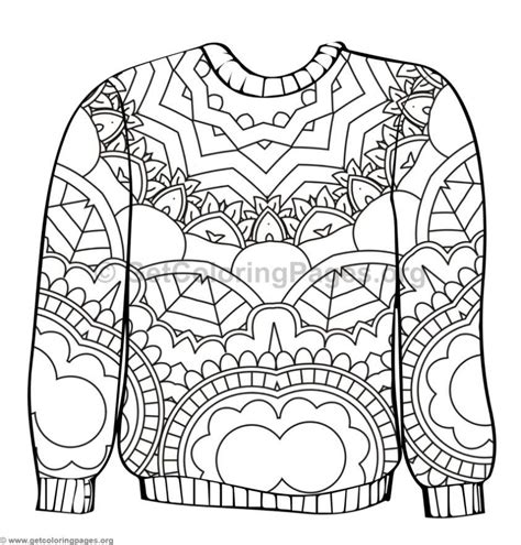 Ugly Sweater Coloring Pages #3 Getcoloringpagesorg