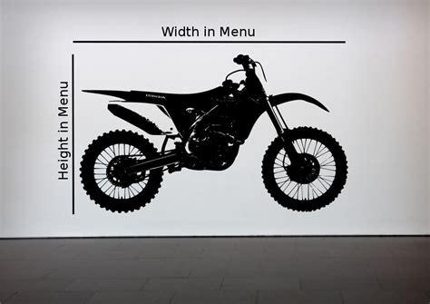crosser motocross bike wall sticker bedroom stencil transfer decal mural ebay