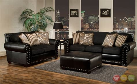 black leather sofa decorating ideas living room awesome black living room furniture