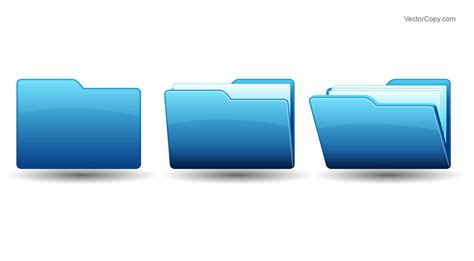 Open Folder Icon Free Download Vector Clipart Image #55