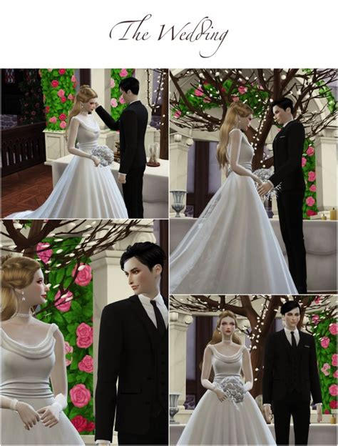 flower chamber wedding project poses sets sims  downloads