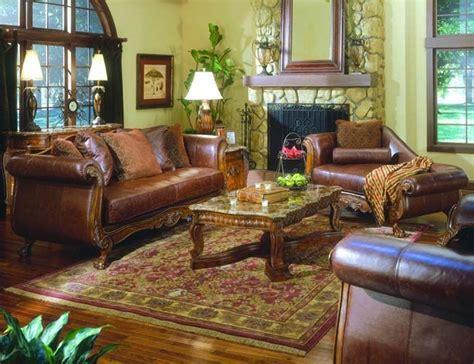 furniture brown color leather living room set