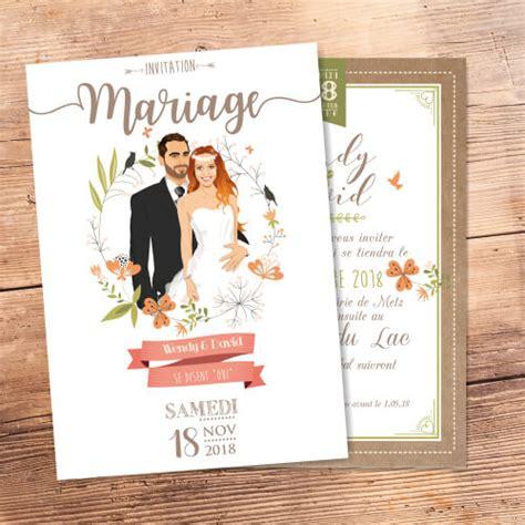 faire part mariage thème nature chic faire part de mariage original ch 234 tre nature bucolique