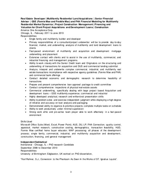 Commercial Real Estate Underwriter Resume by Commercial Real Estate Underwriter Resume