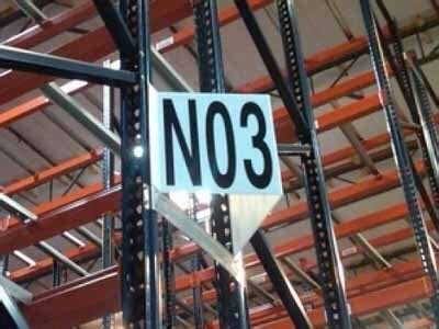 warehouse signs aisle bulk zone safety dock id label