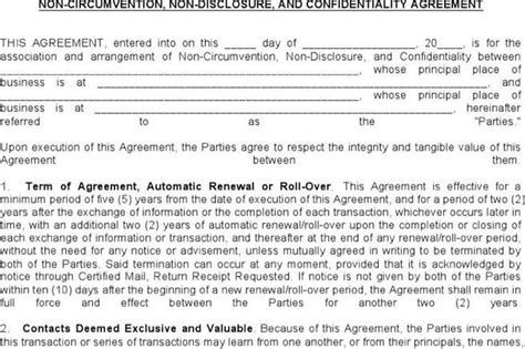 Permalink to Non Circumvention Agreement Template