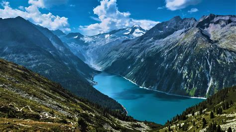 Hd Desktop Picture by Mountains And Fjord Hd Wallpaper Background Image