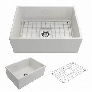 bocchi contempo farmhouse apron front fireclay 27 in With 27 apron front sink