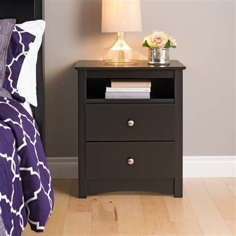 tall bedroom end tables tall 2 drawer night stand bdc 2428