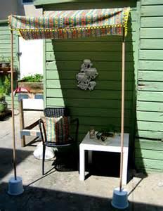 Diy Awnings For Decks by Diy Project Portable Sun Shade Design Sponge