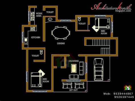 architecture kerala  bed room house plan