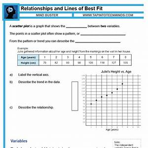 Scatter Plot  Correlation  And Line Of Best Fit Exam Mrs