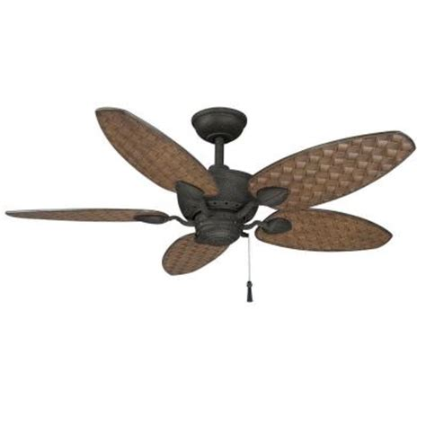 home depot ceiling fans outdoor hton bay largo 48 in gilded iron outdoor ceiling fan