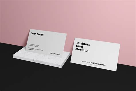 business card brand mockup psd dribbble graphics