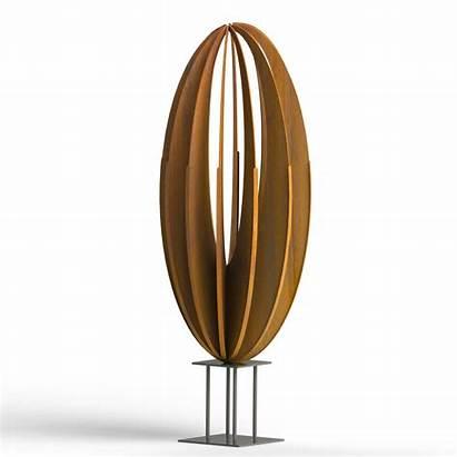 Sculpture Sculptures Metal Corten Garden Exterior Steel