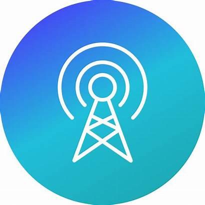 Broadcast Icon Vector Symbol Wifi Icons Antenna