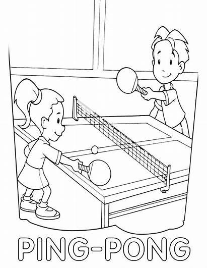 Tennis Coloring Ping Pong Sports Pingpong Tablet