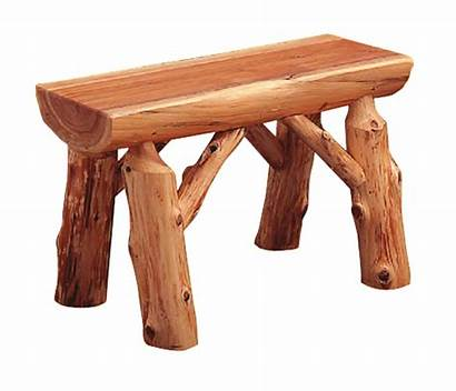 Bench Logger Log Furniture Rustic Wood Cedar