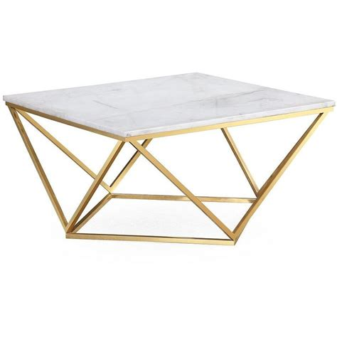 Get 5% in rewards with club o! TOV Furniture Modern Leopold White Marble Cocktail Table TOV-G5477 - Minimal & Modern