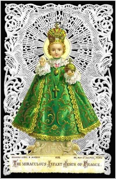 Wistful Victorian Infant Jesus Of Prague