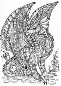 Dragon Coloring Pages Zentangle