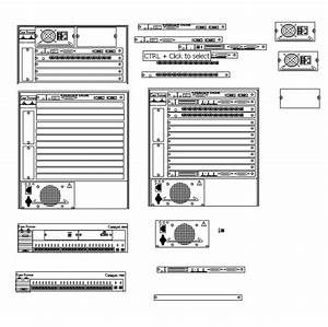 Older Cisco Switch Components Created In Visio