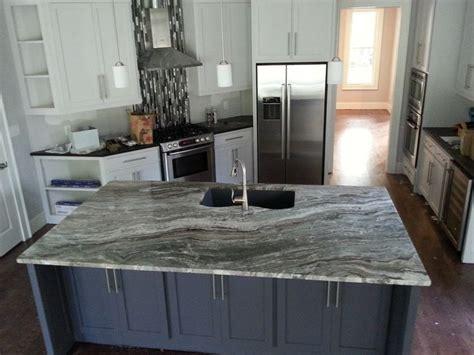 fantasy brown quartzite kitchen island countertop