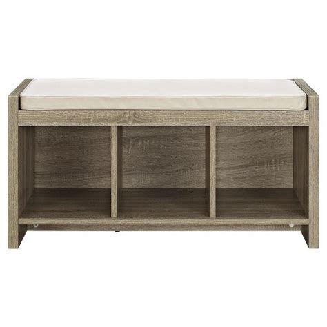 distressed storage bench penelope entryway storage bench with cushion distressed