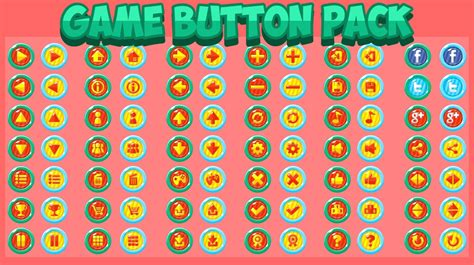 game button pack opengameartorg