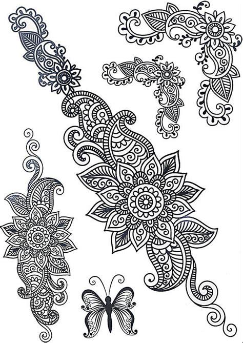 faux tatouage mandala fleuri kolawi