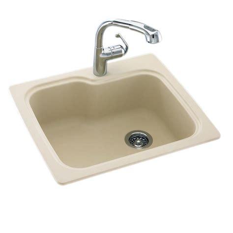 dual mount kitchen sink dual mount composite 25x22x9 in 1 single basin 6981