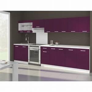 Cuisine Couleur Aubergine : ultra xxl cuisine compl te 3m20 aubergine mat achat ~ Premium-room.com Idées de Décoration