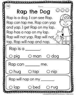 kindergarten reading comprehension passages kindergarten