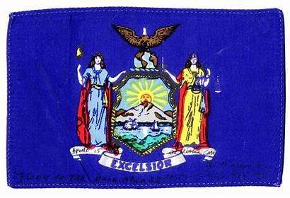Flag York State Flown Apollo Astronaut Near