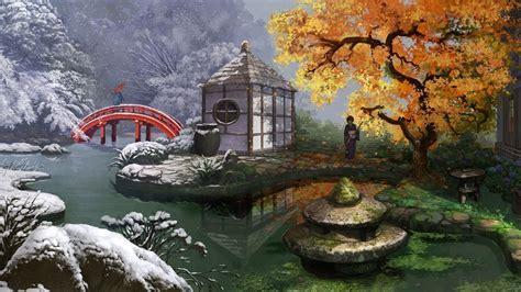 japanese garden hd wallpaper  images