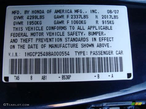 2008 accord color code b536p for royal blue pearl photo