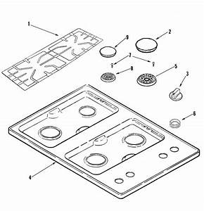 Amana Aks3040be Gas Cooktop Parts